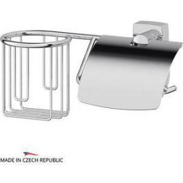 Держатель освежителя и туалетной бумаги с крышкой FBS Esperado хром (ESP 054)