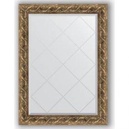 Зеркало с гравировкой поворотное Evoform Exclusive-G 76x103 см, в багетной раме - фреска 84 мм (BY 4184)