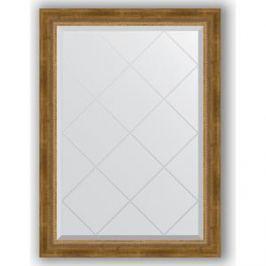 Зеркало с гравировкой поворотное Evoform Exclusive-G 73x101 см, в багетной раме - состаренная бронза с плетением 70 мм (BY 4176)