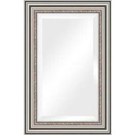 Зеркало с фацетом в багетной раме поворотное Evoform Exclusive 56x86 см, римское серебро 88 мм (BY 1237)
