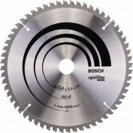 Диск пильный Bosch 254х30мм 60зубьев Optiline Wood (2.608.640.436)