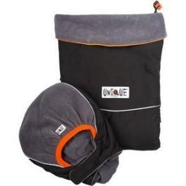 МаМ Двухстронняя водоотталкивающая накидка Deluxe Cover для слингоношения с шапочкой для малыша, Черный/Серебристый (12269942)