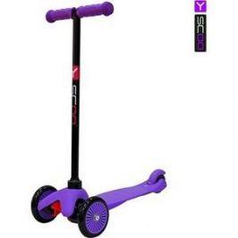 Самокат 3-х колесный Y-Scoo mini A-5 Simple цв. purple с цветными колесами