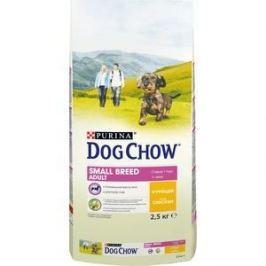 Сухой корм DOG CHOW Adult Small Breed with Chicken с курицей для взрослых собак мелких пород 2,5кг (12308765)