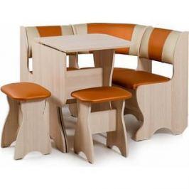 Набор мебели для кухни Бител Тюльпан мини - комби (ясень с-120 + с-101, ясень)