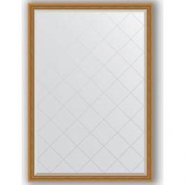 Зеркало с гравировкой поворотное Evoform Exclusive-G 128x183 см, в багетной раме - состаренное золото с плетением 70 мм (BY 4475)