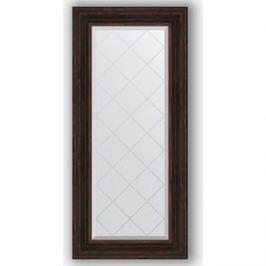 Зеркало с гравировкой поворотное Evoform Exclusive-G 59x128 см, в багетной раме - темный прованс 99 мм (BY 4076)