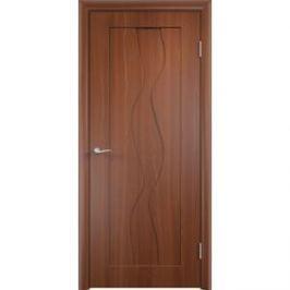 Дверь VERDA Вираж глухая 2000х600 ПВХ Итальянский орех