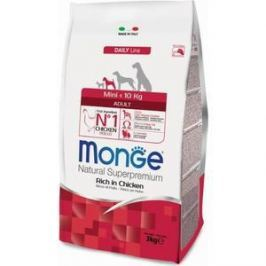 Сухой корм Monge Daily Line Adult Dog Mini Rich in Chicken с курицей для взрослых собак мелких пород 3кг