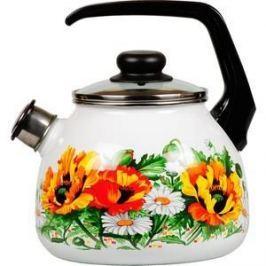Чайник эмалированный со свистком 3.0 л Vitross Floristeria (1RC12)