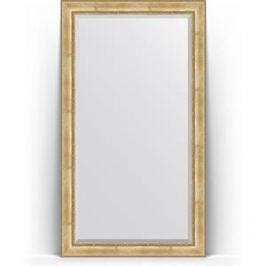Зеркало напольное с фацетом поворотное Evoform Exclusive Floor 117x207 см, в багетной раме - состаренное серебро с орнаментом 120 мм (BY 6178)