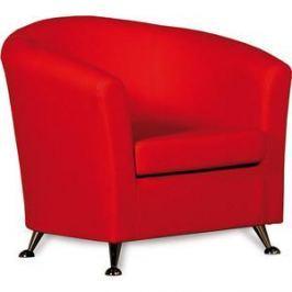 Кресло СМК Бонн 040 1х к/з Санторини0421 красный
