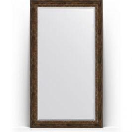 Зеркало напольное с фацетом поворотное Evoform Exclusive Floor 117x207 см, в багетной раме - состаренное дерево с орнаментом 120 мм (BY 6180)