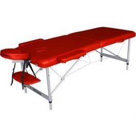 Массажный стол DFC Nirvana elegant optima, 186х60х4 cm (алюминиевые ножки, красный)
