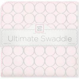 Фланелевая пеленка SwaddleDesigns для новорожденного Пастель круги розовая (SD-350SP)