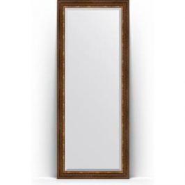 Зеркало напольное с фацетом поворотное Evoform Exclusive Floor 81x201 см, в багетной раме - римская бронза 88 мм (BY 6119)