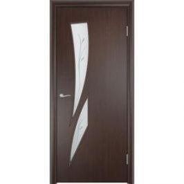 Дверь VERDA Тип С-2(Ф) остекленная 2000х600 МДФ финиш-пленка Венге