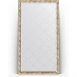 Зеркало напольное с гравировкой поворотное Evoform Exclusive-G Floor 108x198 см, в багетной раме - прованс с плетением 70 мм (BY 6344)