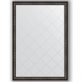Зеркало с гравировкой поворотное Evoform Exclusive-G 130x185 см, в багетной раме - черный ардеко 81 мм (BY 4483)