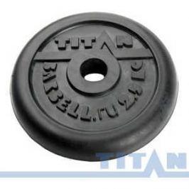 Диск обрезиненный Titan 26мм 20кг черный