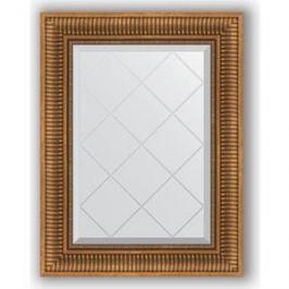 Зеркало с гравировкой поворотное Evoform Exclusive-G 57x75 см, в багетной раме - бронзовый акведук 93 мм (BY 4025)