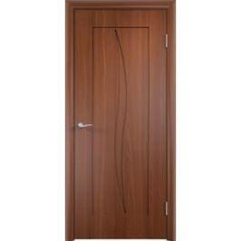 Дверь VERDA Стефани глухая 1900х600 ПВХ Итальянский орех