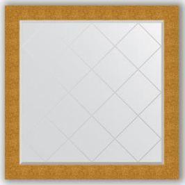 Зеркало с гравировкой Evoform Exclusive-G 106x106 см, в багетной раме - чеканка золотая 90 мм (BY 4452)