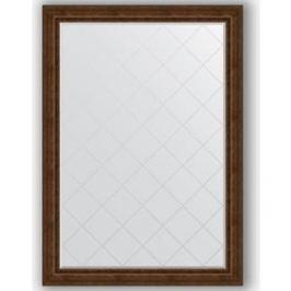 Зеркало с гравировкой поворотное Evoform Exclusive-G 137x192 см, в багетной раме - состаренная бронза с орнаментом 120 мм (BY 4515)