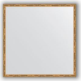 Зеркало в багетной раме Evoform Definite 67x67 см, золотой бамбук 24 мм (BY 0660)
