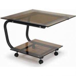 Стол журнальный Мебелик Дуэт 9 чёрный/тонированное