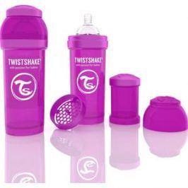 Twistshake Антиколиковая бутылочка для кормления 260 мл. Фиолетовая (780011)