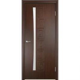 Дверь VERDA Омега остекленная 2000х800 ПВХ Венге левая