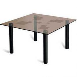 Стол журнальный Мебелик Робер 2М чёрный/тонированное