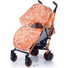 Коляска трость BabyHit Handy Бело-оранжевая