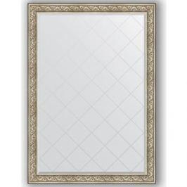 Зеркало с гравировкой поворотное Evoform Exclusive-G 135x190 см, в багетной раме - барокко серебро 106 мм (BY 4510)