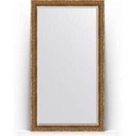 Зеркало напольное с фацетом поворотное Evoform Exclusive Floor 114x204 см, в багетной раме - вензель бронзовый 101 мм (BY 6171)