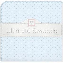 Фланелевая пеленка SwaddleDesigns для новорожденного Blue w/Blue Dot (SD-048PB)