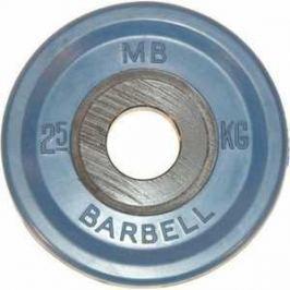Диск обрезиненный MB Barbell 51 мм 2.5 кг синий