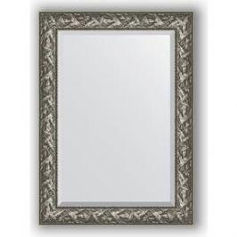 Зеркало с фацетом в багетной раме поворотное Evoform Exclusive 79x109 см, византия серебро 99 мм (BY 3468)