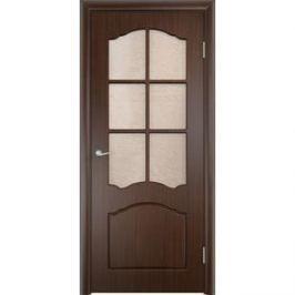 Дверь VERDA Лидия остекленная 1900х550 ПВХ Венге