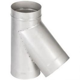 Тройник Феникс дымоходный 110 мм угол 45 градусов (0.5 нерж.мат.)(02559)