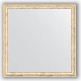 Зеркало в багетной раме Evoform Definite 73x73 см, слоновая кость 51 мм (BY 1025)