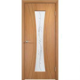 Дверь VERDA Богемия остекленная 2000х600 ПВХ Миланский орех