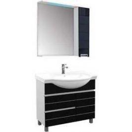 Комплект мебели Aquanet Доминика 90 цвет бел (фасад черный)