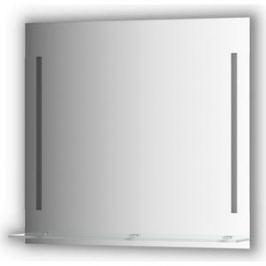 Зеркало с полочкой Evoform Ledline-S с 2-мя светильниками 11 W 80x75 см (BY 2164)