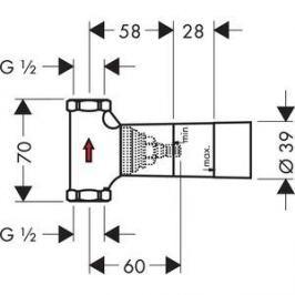 Запорный вентиль Hansgrohe внутренняя часть (15973180)