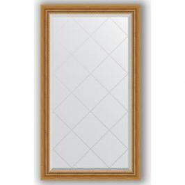 Зеркало с гравировкой поворотное Evoform Exclusive-G 73x128 см, в багетной раме - состаренное золото с плетением 70 мм (BY 4217)