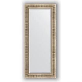 Зеркало с фацетом в багетной раме поворотное Evoform Exclusive 62x147 см, серебряный акведук 93 мм (BY 1268)