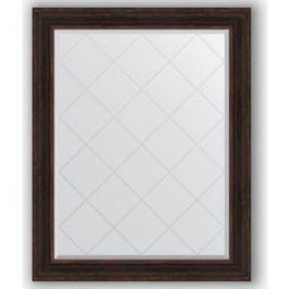 Зеркало с гравировкой поворотное Evoform Exclusive-G 99x124 см, в багетной раме - темный прованс 99 мм (BY 4377)