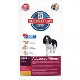 Сухой корм Hill's Science Plan Advanced Fitness Adult Medium with Chicken с курицей для собак средних пород 12кг (3276)